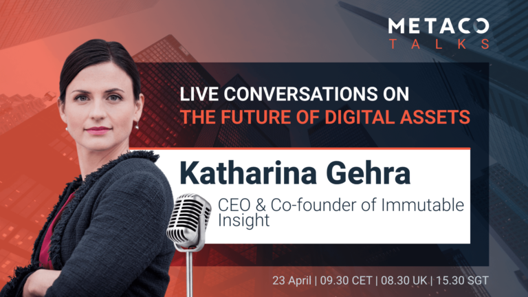 Injecting some realism into the token economy discussion with Katharina GEHRA METACO TALKS